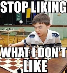 stop liking